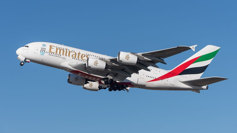 Emirates A380-800 airplane |© Julian Herzog / Wikipedia