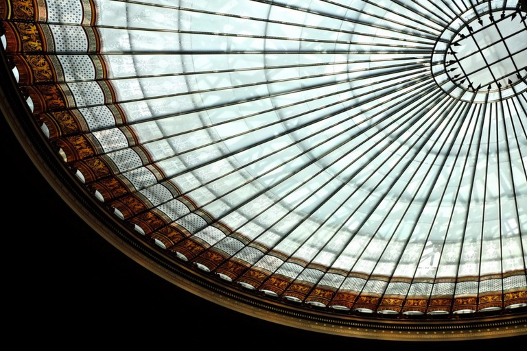 Glass roof of Austria's Parliament building   © Gabriel Hess / Flickr
