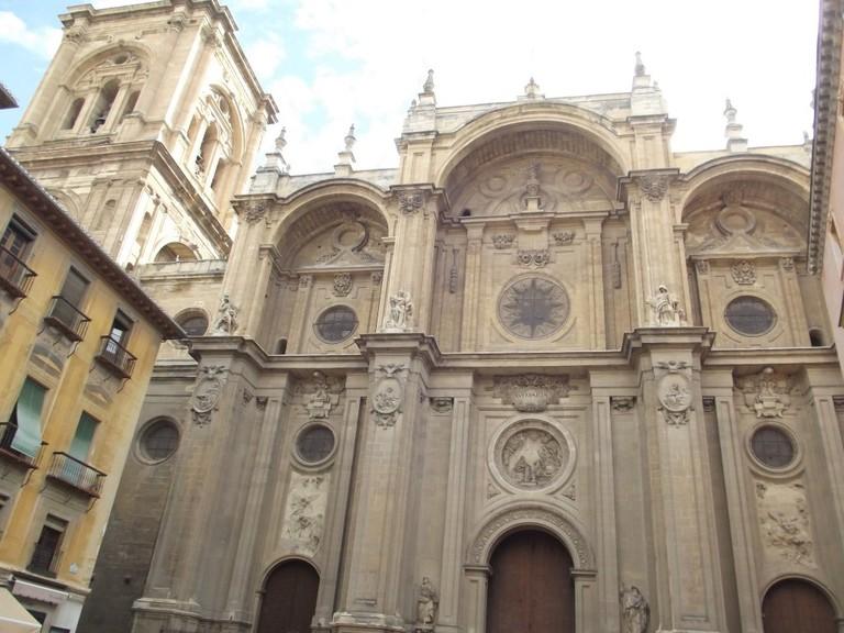 The facade of Granada´s catedral, local boy Alonzo Cano´s greatest achievement; Elliot Brown, flickr