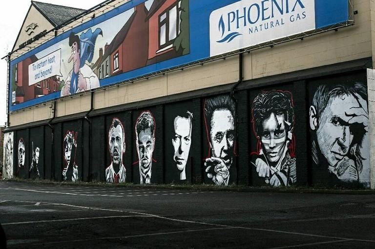 Legends Wall, Corporation Street Docklands Belfast |© Courtesy of Glen Molloy Creative