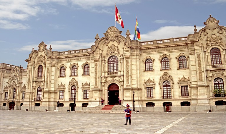 Peru's presidential palace rests on top of pre-Columbian ruins