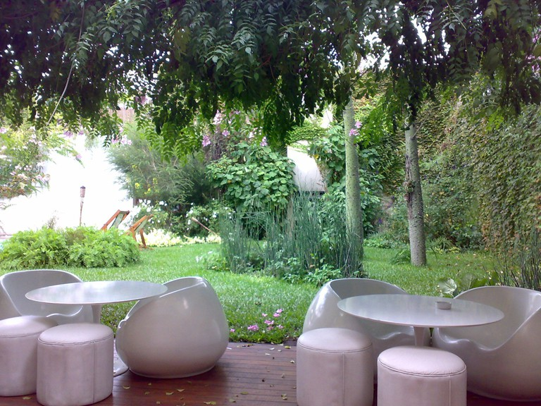 The garden at Home Hotel, Buenos Aires