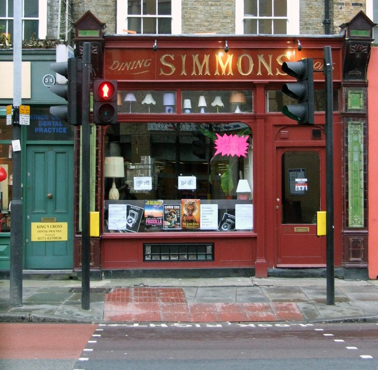 The outside of Simmons