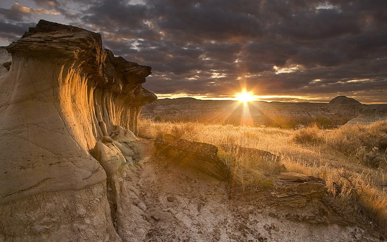 Hoodoos at Sunset in Dinosaur Provincial Park