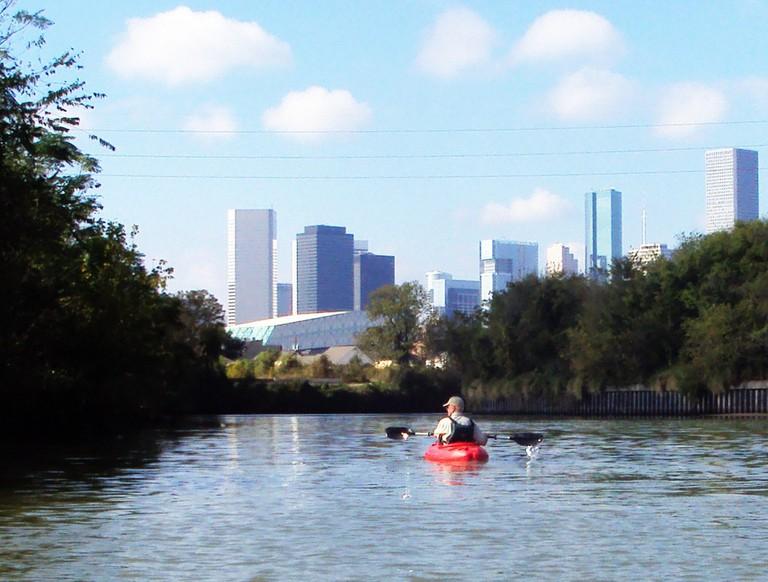 Houston skyline from Buffalo Bayou © Patrick Feller