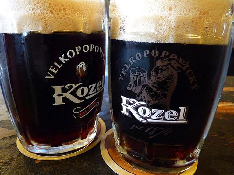 Dark and foamy Kozel | ©Dudva / Wikimedia Commons