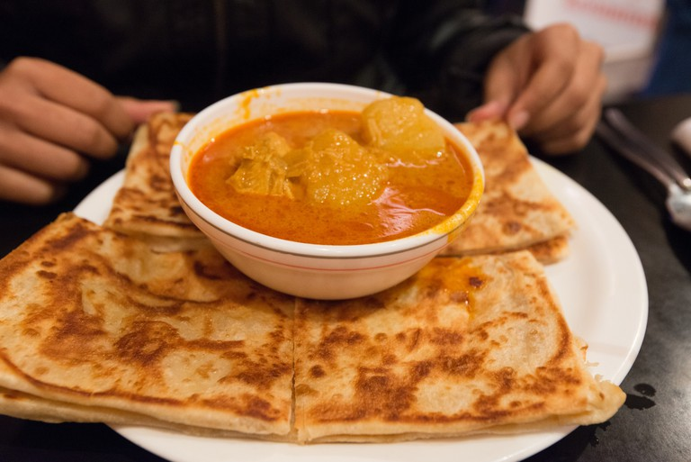 Roti canai at KK Malaysian Restaurant in Wellington