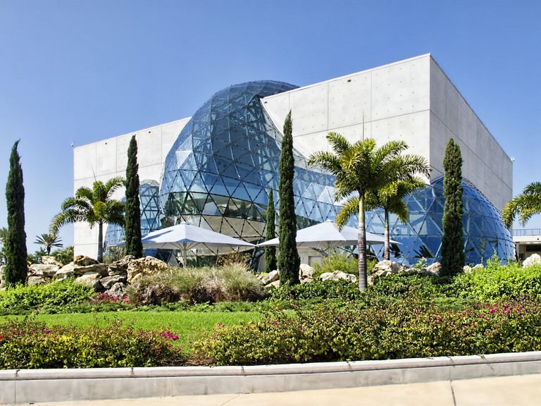 The back of the Salvador Dalí Museum in St. Petersburg, Florida