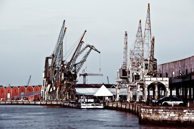 Het Eilandje's historic port cranes | © Dave Van Laere / courtesy of Visit Antwerp