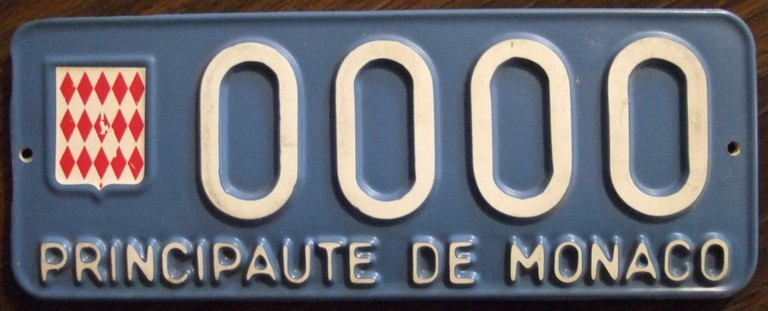 """Monaco Car Number Plate 