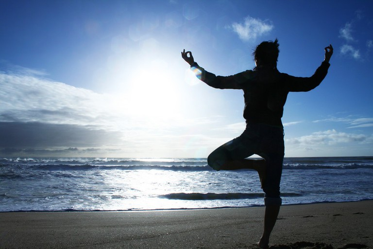 Yoga on the beach   © Mish Sukharev / Flickr