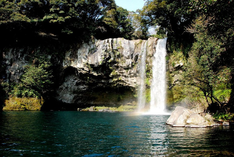 Cheonjiyeon Falls, Jeju Island   © Martin Chen