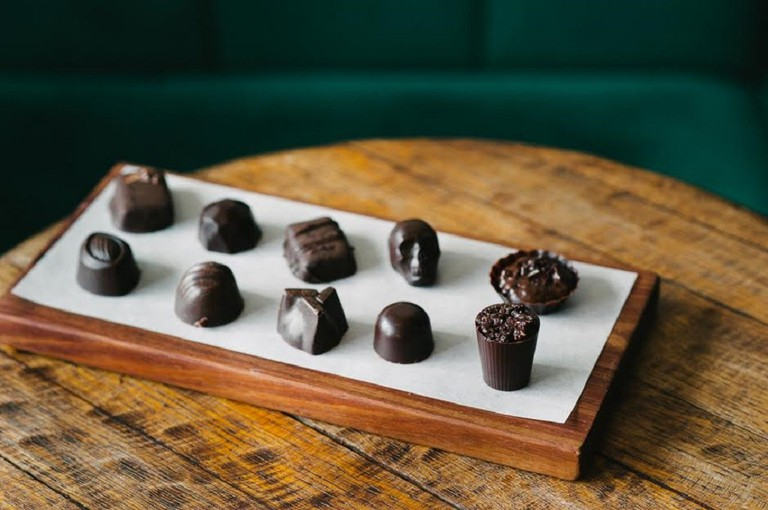 Interesting shaped truffles at Honest Chocolate © Courtesy of Honest Chocolate