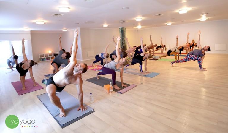 Yoga class © Courtesy of Yo Yoga