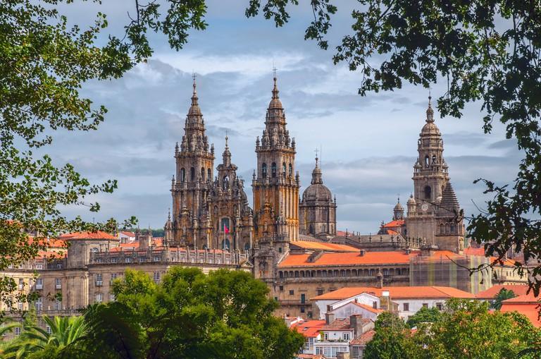 The cathedral in Santiago de Compostela, Spain   © Sergey Golotvin/Shutterstock