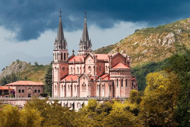 Basílica de Santa María la Real de Covadonga , Asturias, Spain   © Migel/Shutterstock