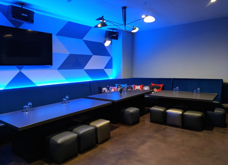A karaoke room at The Venue