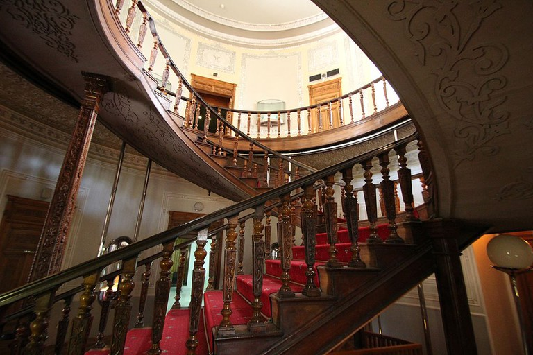 Staircase in the Glass and Ceramics Museum