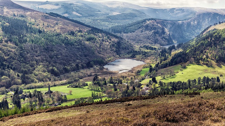 The Glendalough Valley, County Wicklow, facing south-west | © Joe King/Flickr