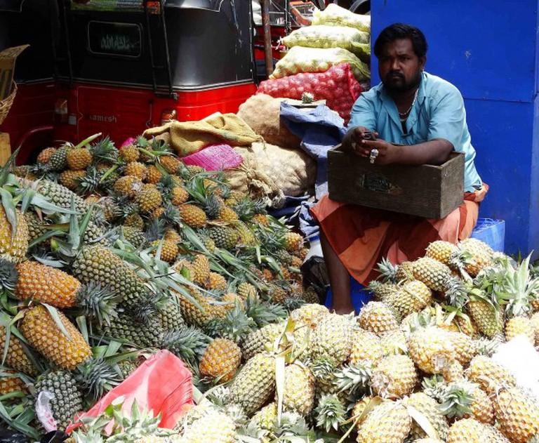 Pine apple seller in Pettah