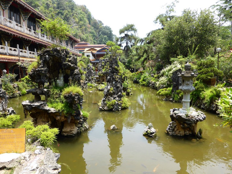 Ipoh's Sam Poh Tong Temple gardens