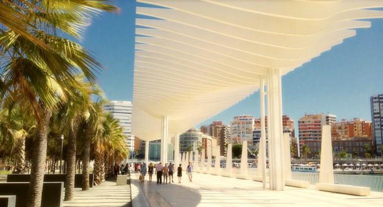 "<a href=""https://www.flickr.com/photos/zedzap/"">Málaga port's 'Palm Garden of Surprises'   © Nick Kenrick/Flickr</a>"