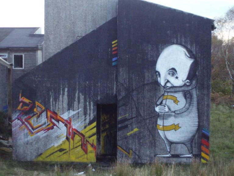Graffiti On Polphail   © Paul Birrell / Geograph