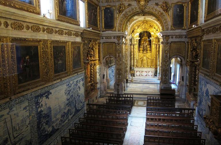 A chapel inside the Madre de Deus Convent/ National Azulejo Museum