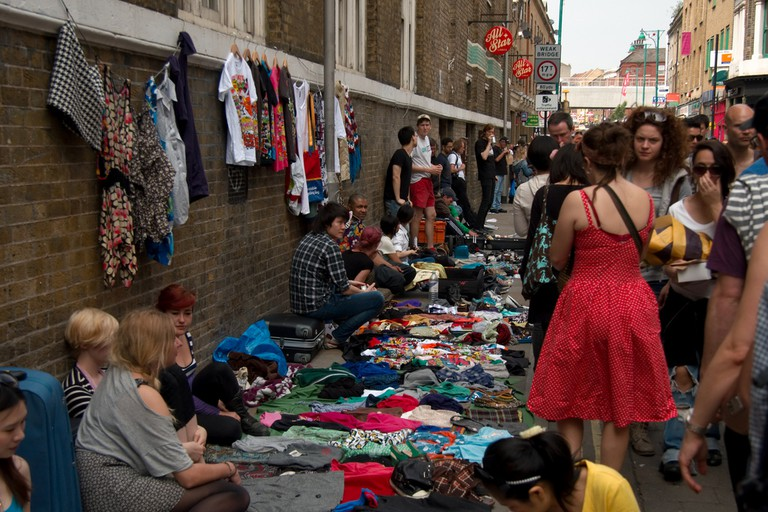 It's always busy at Brick Lane market