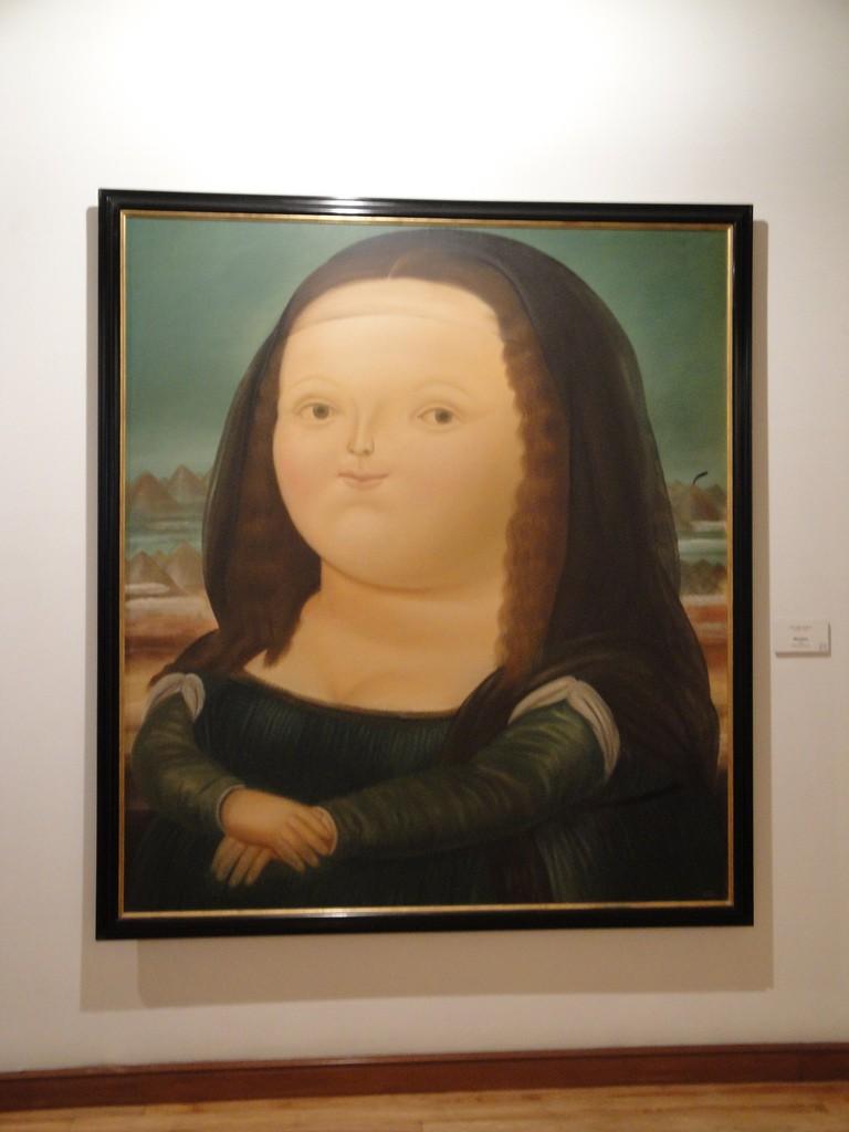 Botero's Mona Lisa Monalisa in the Botero Museum Bogota © Janeyhenning / Flickr