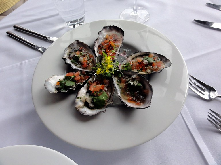 Mudbrick Winery Oysters