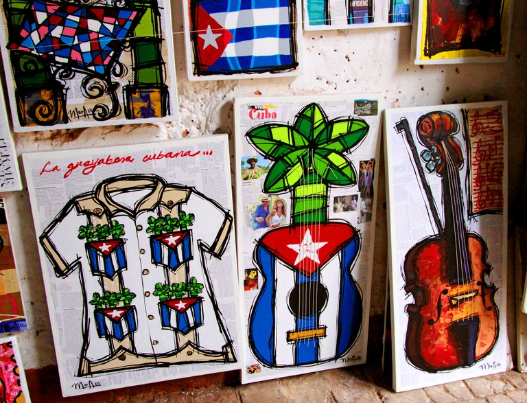 Cuban guayabera and musical instruments | © Guillaume Baviere / Flickr