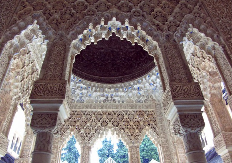 """<a href="""" https://pixabay.com/p-2163513/?no_redirect""""> Breathtaking interiors abound in the Alhambra's Nasrid palaces 