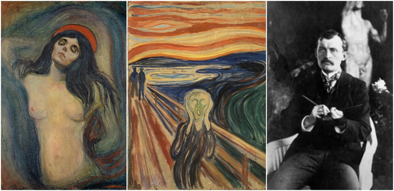 """Madonna"", ""The Scream"" and portrait of Munch"