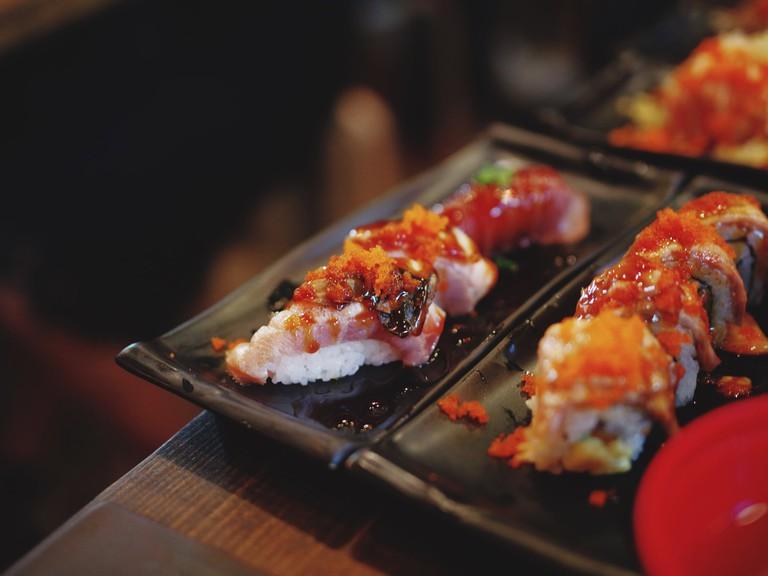 Check out the fresh sushi at Fuji Sushi
