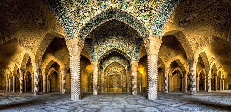 Shabestan prayer hall of Vakil Mosque | © orMohammad Reza Domiri Ganji / Wikimedia Commons