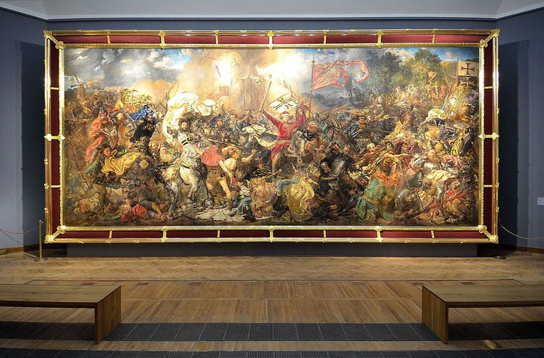 The Battle of Grunwald by Jan Matejko at the National Museum in Warsaw