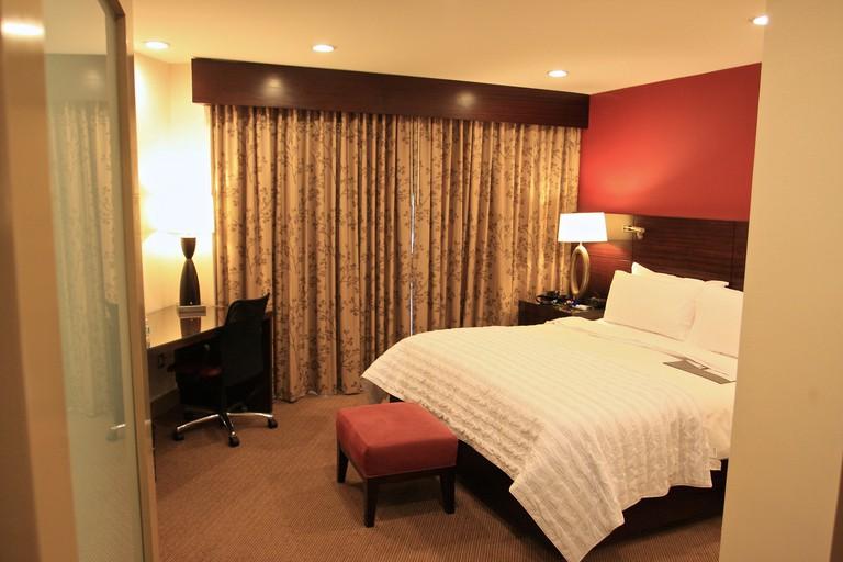 A bedroom at Le Méridien