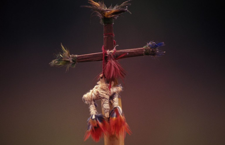 """<a href=""""https://www.flickr.com/photos/136885922@N06/"""">Avá Guaraní de pueblos originarios   © Fotografías Nuevas/Flickr</a>"""