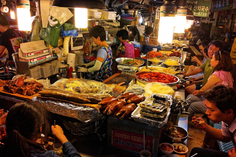 Gwangjang Market's food zone