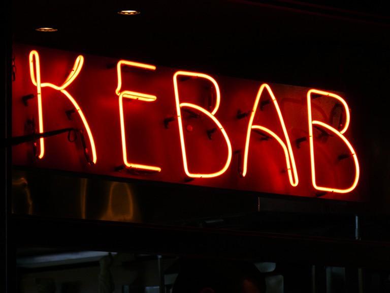 Late-night kebab shop. Photo