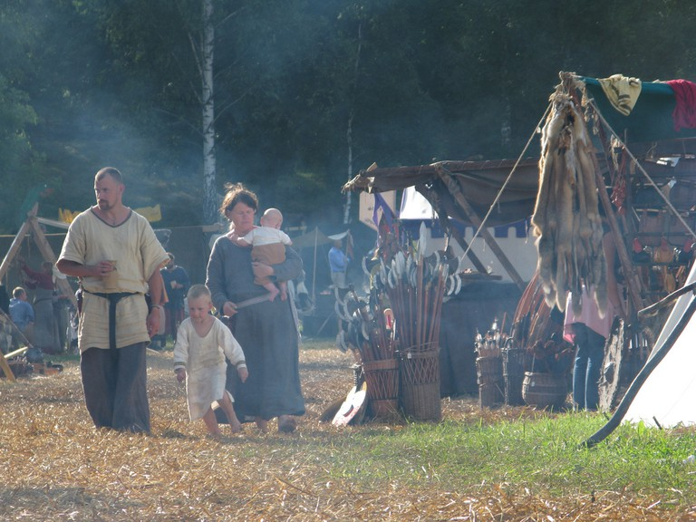 Traditional costumes and crafts at the Viking Market