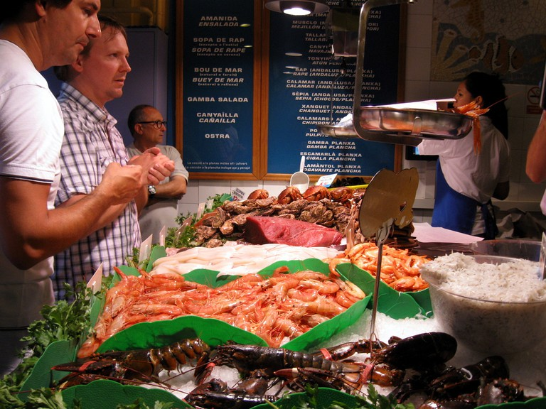 Fresh fish at La Paradeta