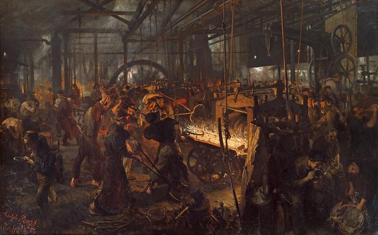 Eisenwalzwerk   Adolph von Menzel / Wikimedia Commons