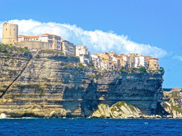 Bonifacio stands on the very edge of the Mediterranean CC0 Pixabay