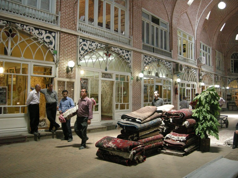 Tabriz Bazaar is a great place to see the modern-day rug industry