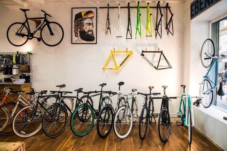 Inside L'Hirondelle Bike Shop