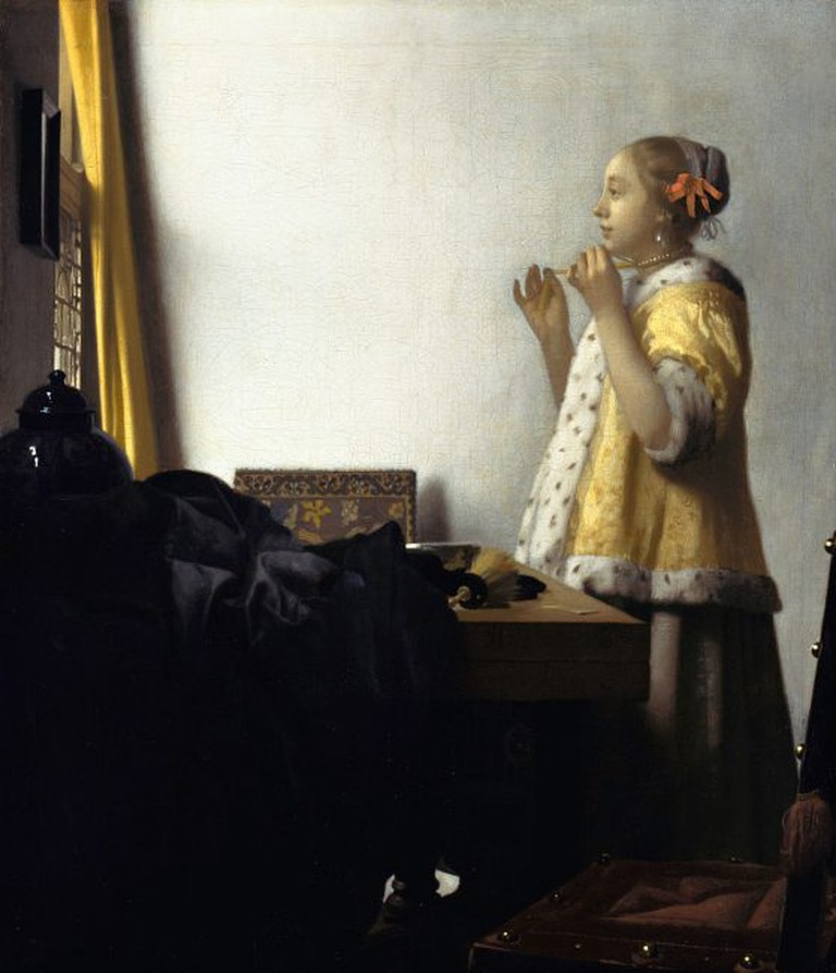 Woman with a Pearl Necklace   Jan Vermeer van Delft / Wikimedia Commons