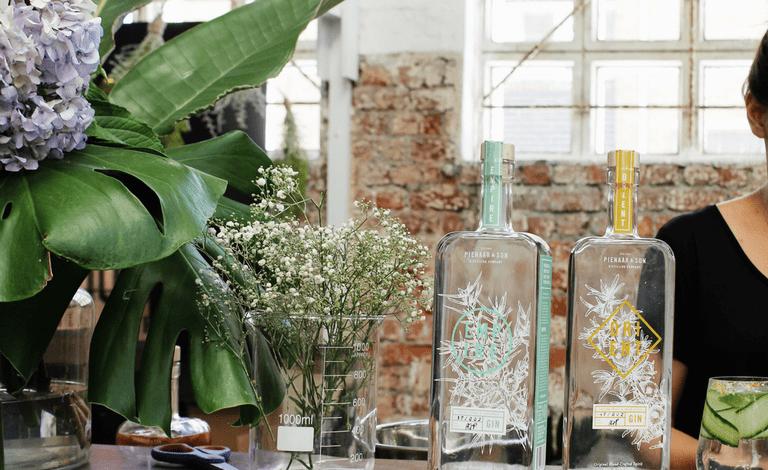 Pienaar & Son craft gin sold at the market