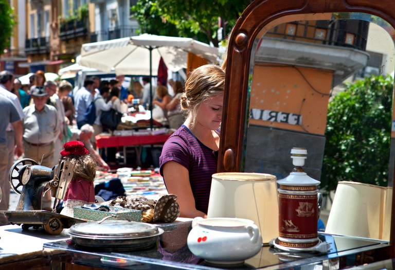 Calle Feria's Thursday morning flea market is a treasure trove